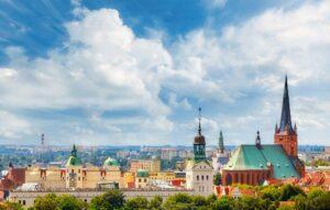 Szczecin City downtown, Poland.